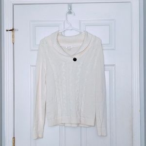 NWOT Cable Knit V-neck Pullover Sweater